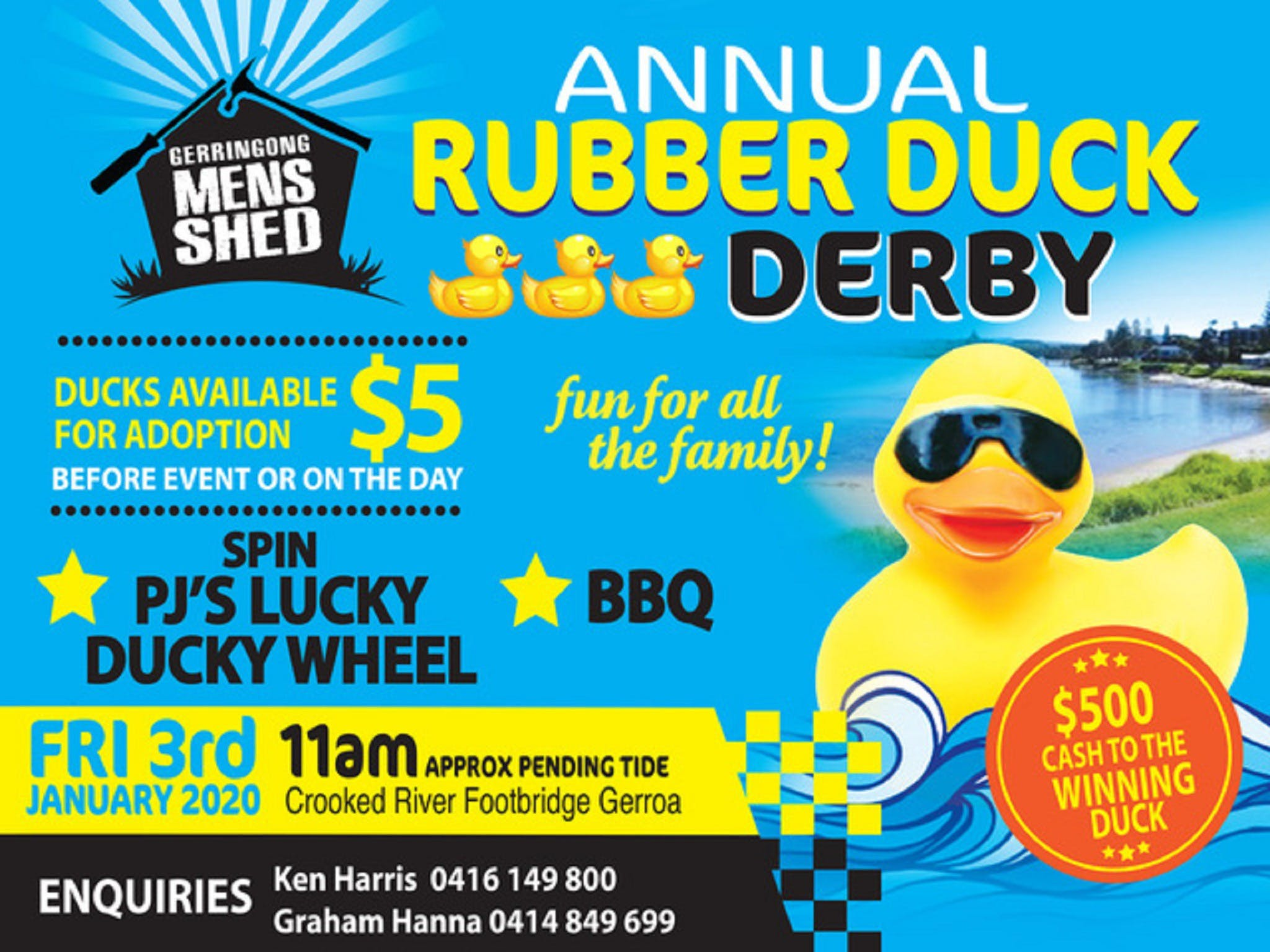 Gerringong Mens Shed Annual Duck Derby - Pubs Melbourne
